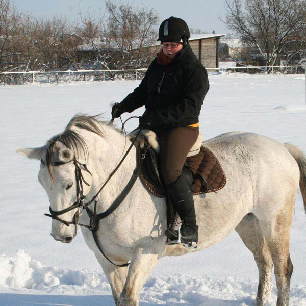 Horseback riding trough the snow in Finland - © RV / ride77.com